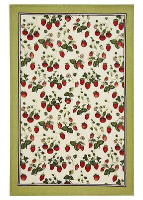 "Ulster Weavers, ""RHS Strawberry"" , Pure linen printed tea towel"