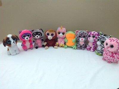 Ty Beanie Boos    Bundle  X   10   All  With  Sparkly  Eyes