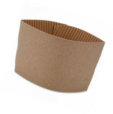 Coffee Cup Sleeve Corrugated Hot Beverages Protective Cups Holder Brown 50 Count