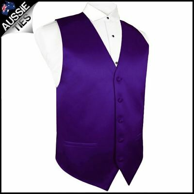 "Boys Dark Purple Waistcoat Vest 24"" / 62cm Boy's Kids' Wedding"