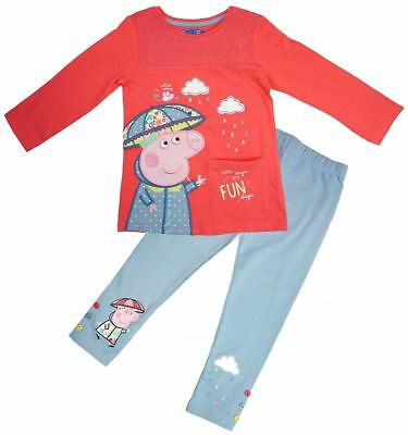 Peppa Pig Rainy Days Are Fun 2 Piece Baby Girls Outfit Set 12 Months - 5 Years