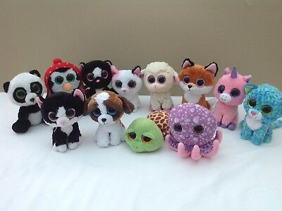 Ty Beanie Boos    Bundle  X   12   All  With  Sparkly  Eyes