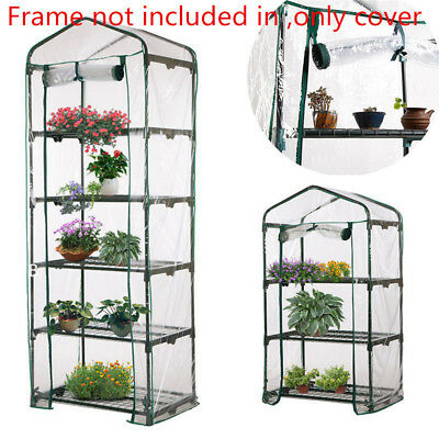 5-Tier Garden Greenhouse Tall Green Hot Plant House Shed Storage PVC Cover Apex