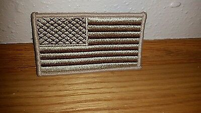 AMERICAN FLAG EMBROIDERED PATCH CAMO BROWN TAN USA US w/ VELCRO®