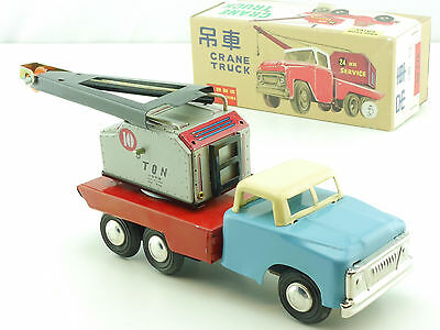 MF 774 Crane Truck tin toy Blech China old really near mint N MIB 1411-24-19