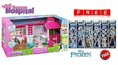 Animagic Animal Rescue Hospital Bluebell Stables + 6 x FREE Frozen Sticker Sets