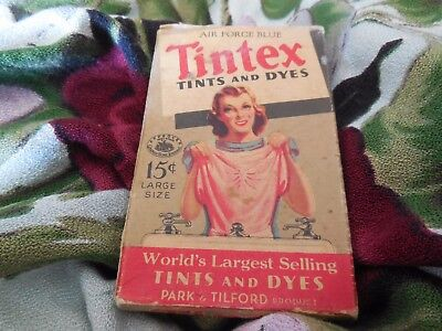 1950`s Tintex Tints and Dyes - Air Force Blue - Original Box with Contents