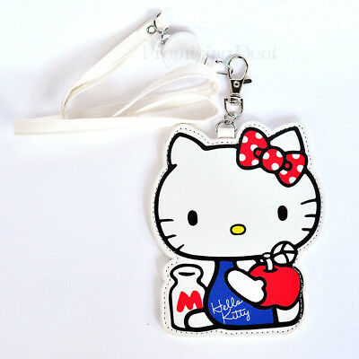 New Cute Hello Kitty ID Badge Card Holder with Retractable ID Badge Reel Pendant
