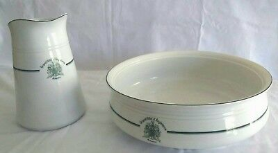 H&S 1792 schlaggenwald porcelain jug and basin set