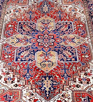 Persian Tabriz-Heriz Authentic Hand-Knotted Collectable Rug