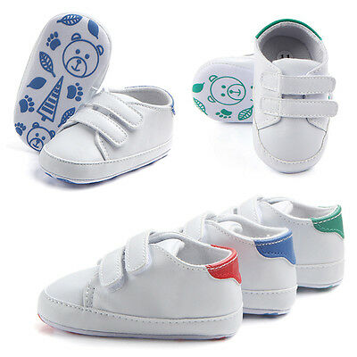 Infant Toddler Baby Boy Girl Soft Crib Shoes Leather Sneakers Anti-slip Trainers