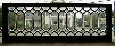 Antique Beveled Glass Transom Window - Oval Design