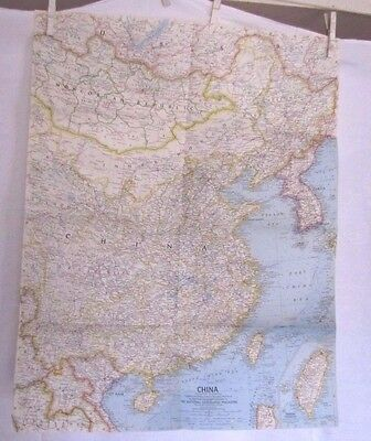 1964 National Geographic Map - China  - 19 x 24 inches