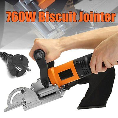 760W Biscuit Jointer  Electric Woodworking Tenoning Machine Groover Motor Tool