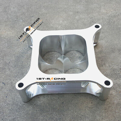 """PROFLOW BILLET 2"""" silver SUPER SUCKER CARB SPACER HOLLEY 4150 ALLOY CNC MACHINED"""