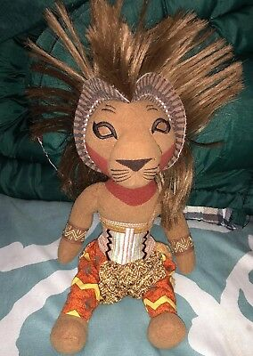 Disney The Lion King Plush Broadway Musical Stuffed Simba Doll Toy