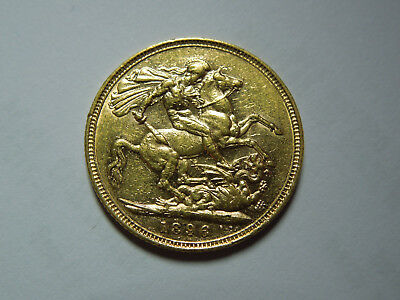 Just Reduced 1896 Queen Victoria Sovereign Coin 7.9 Grams. 22ct Gold.