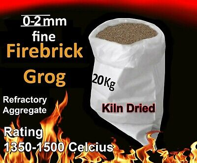 Fire Cement Grog for refractory high temp MORTAR,aggregate brick/mullite 25KG
