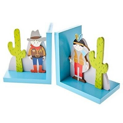 Graham Cowboy and Indian Wooden Bookends - Set of 2 by Gisela Graham