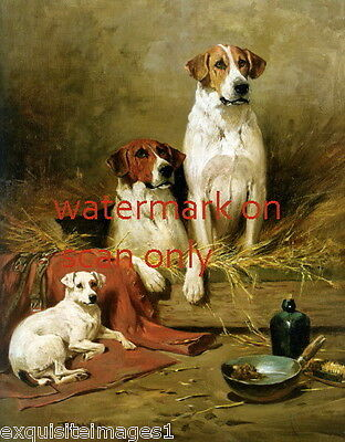 c1870 Hunting Hound Pointer DOG DOGS & Terrier Dog~ NEW Lge Note Cards