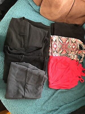 Maternity Clothes Bundle Tops Trousers Jeggings Size 12