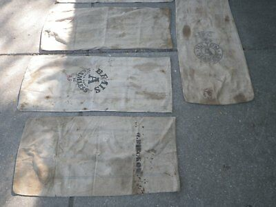 5 canvas feed bags lot #4