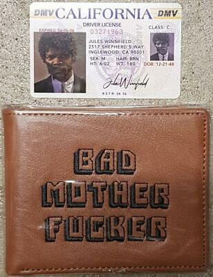 Pulp Fiction - Bad Mother Fucker (Made In USA) - Bi-Fold Wallet - Leather - Embr