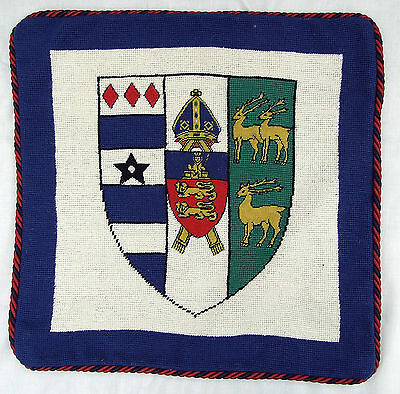 Oxford Lincoin College  Cushion Cover Pillow Needlepoint Handmade