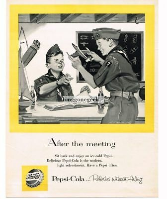 1956 PEPSI-COLA Boy Scouts Playing With Model Airplanes R T HANDVILLE VTG ADVERT