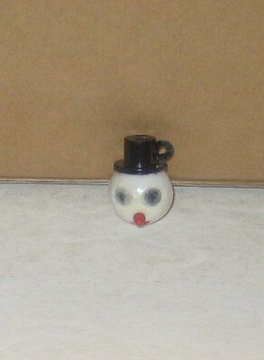 Vintage Gumball Charm Plastic Snowman with Flicker Eyes  Charm Toy Prize