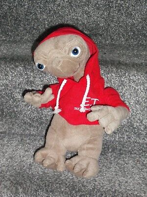 E.T Soft Toy Extra Terrestrial 12'' Tall Alien In Red Hooded Top Soft Toy