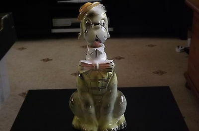 Beautiful Collectible 1970's Retro Musical Dog Decanter Excellent Condition