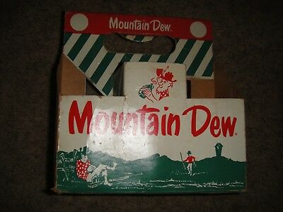 Vintage Mountain Dew Bottle 6 Pack Carton