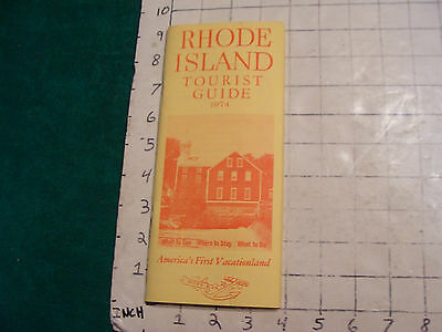 Vintage High Grade booklet: RHODE ISLAND Tourist Guide 1974; 48pages