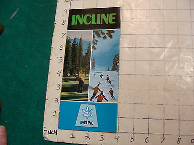 Vintage High Grade Brochure: INCLINE Lake Tahoe w map 1970's