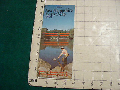 Vintage High Grade Brochure: official NEW HAMPSHIRE TOURIST MAP 1970-71