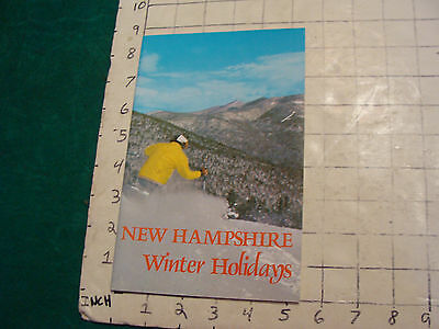 vintage HIGH GRADE brochure: WINTER HOLIDAYS new hampshire 1973; 34pages