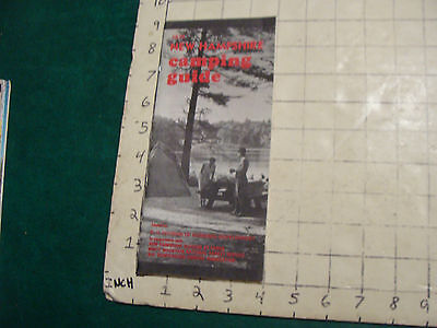 Vintage High Grade Brochure: NH camping guide 1974; 32pgs
