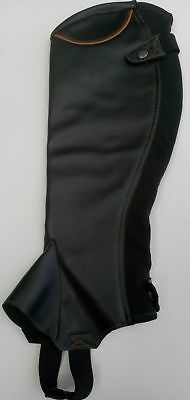 Synthectic Leather Horse Riding Half Chaps