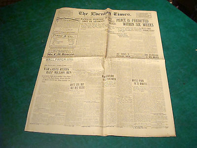 1905 The Evening Times Pawtucket RI - 3-25; PEACE PREDICTED IN 6 WEEKS, etc