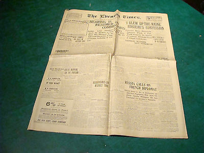 1905 The Evening Times Pawtucket RI - 3-28; I blew up the Mains--Rosseau, etc