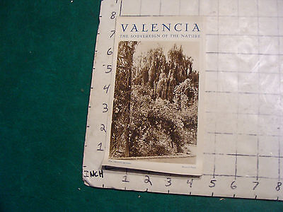 vintage Travel item: SPAIN-Valencia the sovereign of the Nature brochure