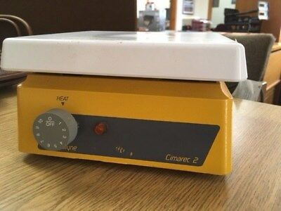 """Barnstead Thermolyne Cimarec 2 Hot Plate HP46825 7"""" x 7"""" 120V 9.2 AMPS 60Hz"""