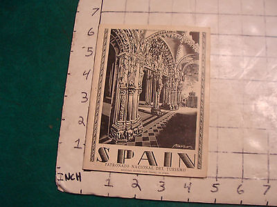 vintage Travel item: SPAIN Brochure, 48 pages, cover art by MARCO