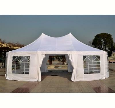 Outsunny 29.2ft High Peak Decagonal Wedding Event Party Tent 10 Removable Walls