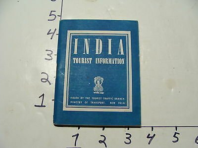 Vintage Travel Paper: INDIA Tourist Information 96 page no date EARLY