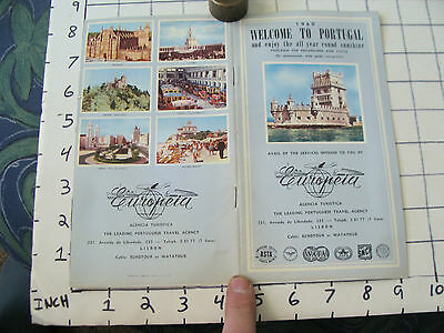 vintage Travel info: 1960 welcome to PORTUGAL 24 page Booklet w tours EUROPEIA