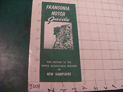 Vintage brochure: 1971 FRANCONIA NOTCH Guide NEW HAMPSHIRE white mts w map