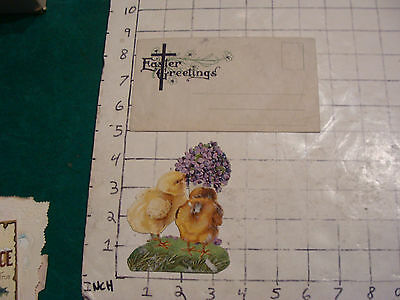 vintage Stand-up Chicks card and Easter Greetings Enevelope