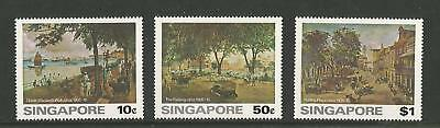 Singapore 1976 Paintings Of Old Singapore - Sg#279/281. Complete Set - Mnh.